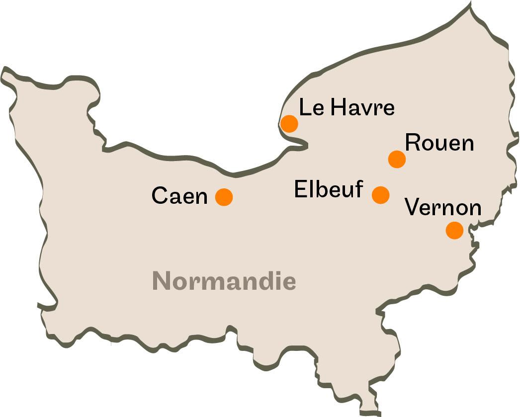 5 centres d'enseignement à Caen